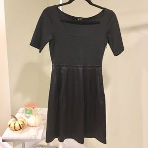 Theory Melody black pleated dress